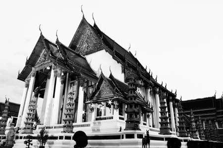 black and white wat suthat Stock Photo