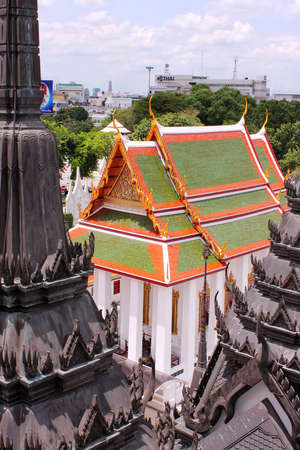 top view temple Stock Photo
