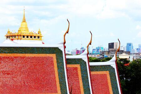 Golden Stupa on The blue sky