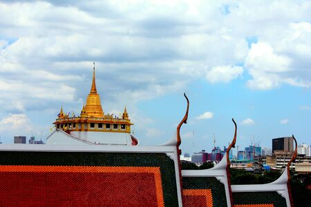 Golden Stupa on The blue sky