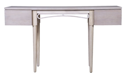 Antique Dressing Table with Mirror Isolated