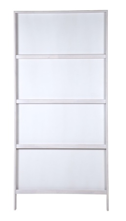 white bookshelf Stock Photo - 17075214