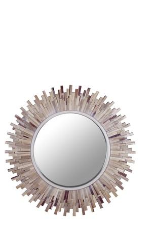 Sphere wood Mirror