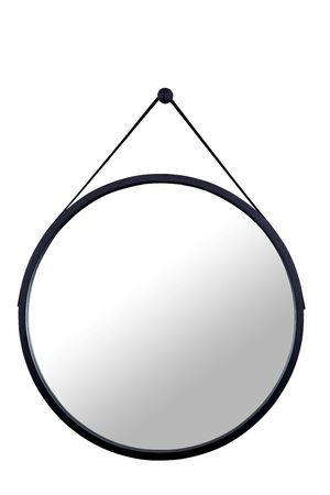 wood Mirror black