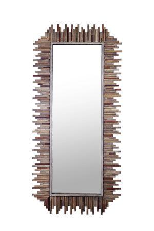 wood Mirror Stock Photo