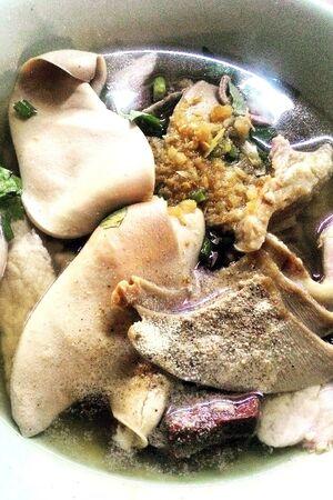 mutton soup Stock Photo