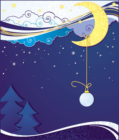 Christmas and New Year greeting card in vector Stock Vector - 5808041