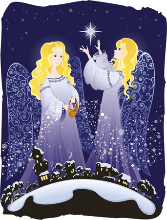 Christmas angels Stock Vector - 5959529