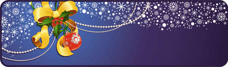 Christmas banner with copyspace.