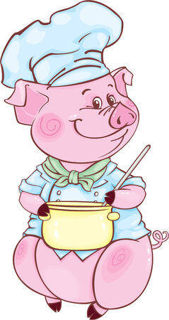 Funny piggy may be used as your corporate character Stock Vector - 6105831