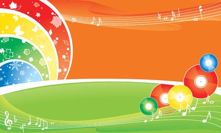 seasonal brightness multicolour background - music all the year round