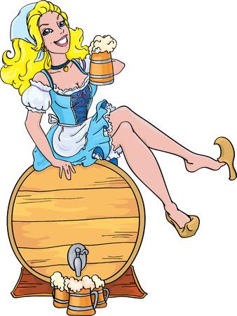 Oktoberfest girl  Illustration