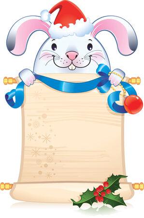 White rabbit - symbol of Chinese horoscope