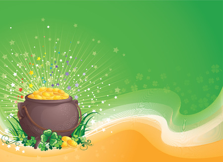 St. Patrick background vector illustration with copyspace.   Vector