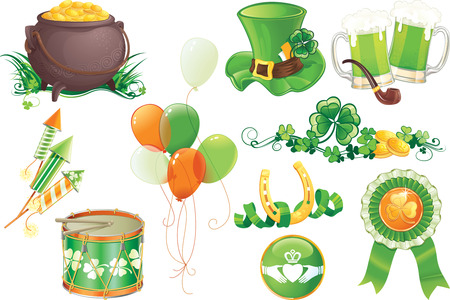 Set contains symbols of St.Patricks Day Vector
