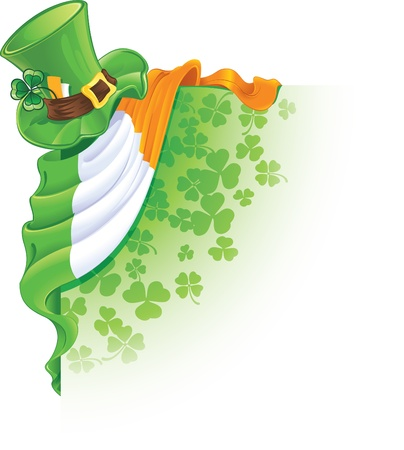 saint patricks: corner design element for Saint Patricks Day Illustration