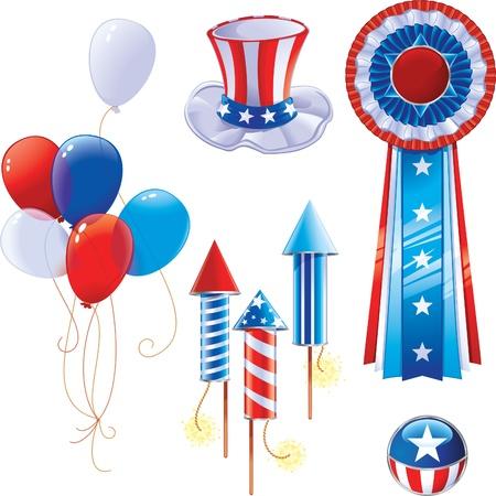 Fourth of July symbols Illustration