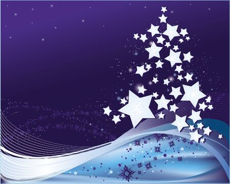 background with stylized Christmas Tree Stock Vector - 8912631