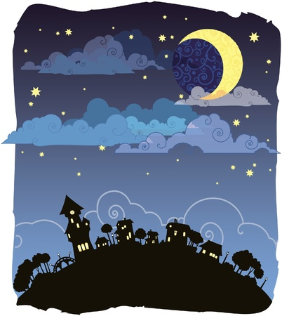 Moonlit night Stock Vector - 8912612