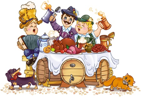 bavarian: Oktoberfest festival Illustration