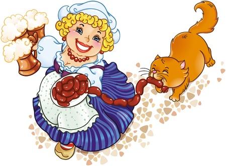 Oktoberfest lady Stock Vector - 8912615