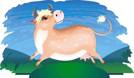 Happy cow Stock Vector - 8912597