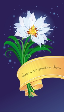 Postcard with spring flower Stock Vector - 8912588
