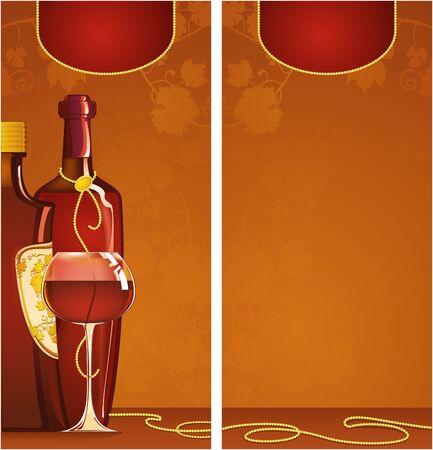 Template of wine list Vector