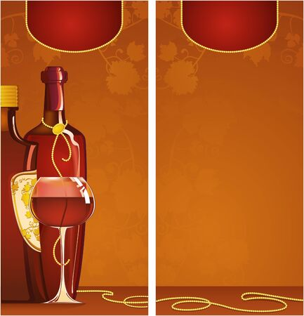 Template of wine list Illustration
