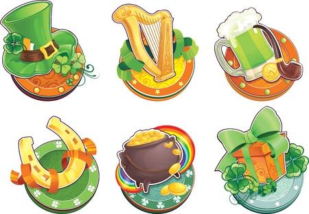 St Patrick s Day symbols Çizim