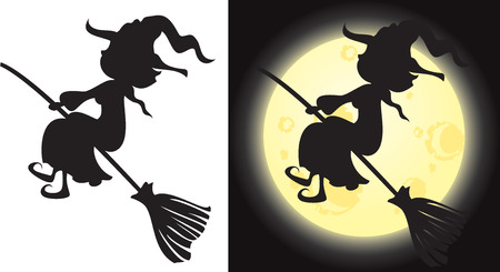trickster: Witchs silhouette - Halloween character Illustration