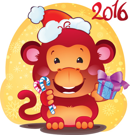Red Fire Monkey - symbol of the new 2016 year.