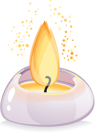 smell of burning: Small tealight candle in  lavender holder