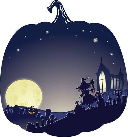 Halloween Double Exposure Background with copyspace.