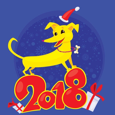 Yellow Dog is the Chinese zodiac symbol of the New Year 2018