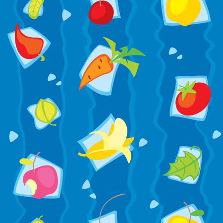 Fruits seamless texture. This image is an easy to edit vector illustration Illusztráció