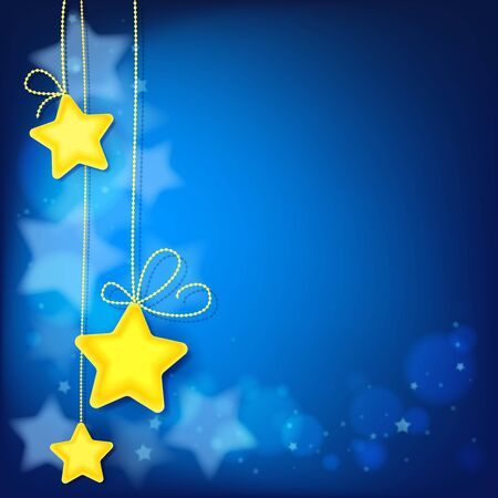 Magic stars abstract background, shiny light effect template for web banner. Çizim
