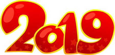 2019 Happy New Year design element.