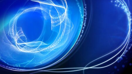 Shiny blue light effect background, abstract illustration. template for web banner, business or technology presentation, background or elements.