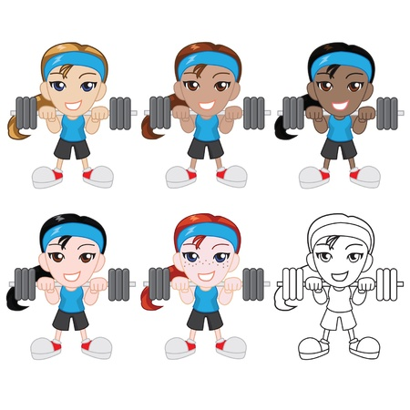 Little Female Weight Lifter