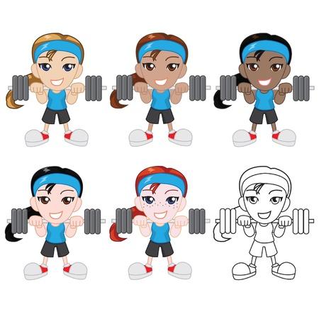 lifter: Little Female Weight Lifter