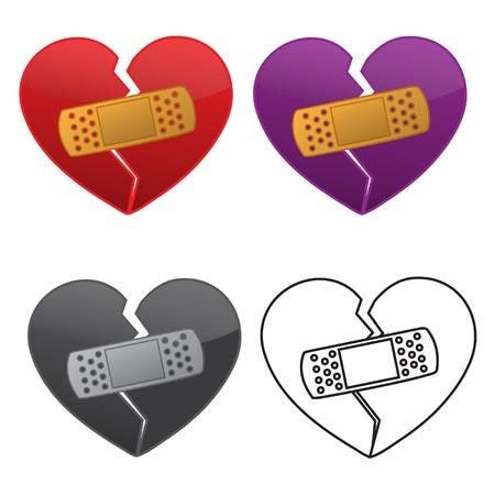 Bandaged Heart Illusztráció