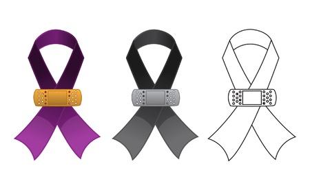 violencia familiar: Conciencia Ribbon Sanado Vectores