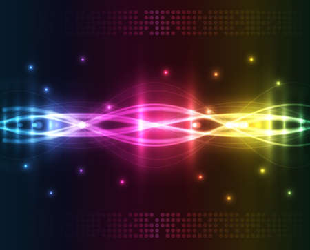 Abstract lights - colored background Vector