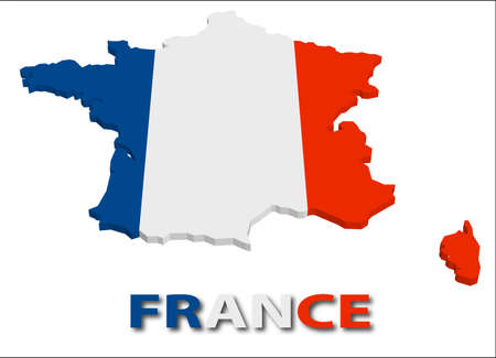 France territory with flag texture.