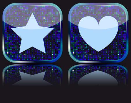 favoritos: Web brillante el bot�n con el icono de Favoritos.  Foto de archivo
