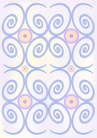 Spiral background with stylized decorative swirls. EPS10 Illustration