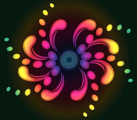 Spiral  background with stylized decorative swirls. EPS10
