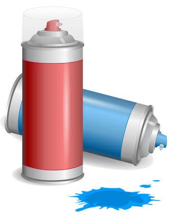 Aerosol graffiti paint spray. Illustration. EPS10