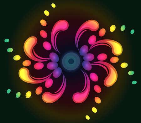 Spiral background with stylized decorative swirls. EPS10 Stock Photo